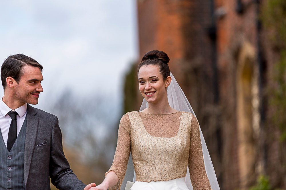 Alison and Luke at Hodsock Priory
